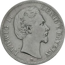 Bayern 2 Mark 1876 D Ludwig II. J. 41 (M54)
