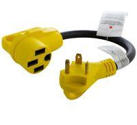 Flexible RV Power Adapter NEMA TT-30P to NEMA 14-50R With Grips