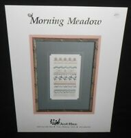 Just Nan MORNING MEADOW Band Sampler Needlework Cross Stitch Chart Pattern Flora