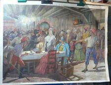 2 Grandes affiches, planche d'école, Lois XVI, Richelieu…