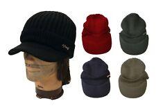 Men Women Winter Knit Cap Beanie Ski Visor Faux Fur knit Cap Hat