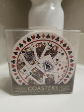 New listing Set of 4 Thirstystone Coasters Poker Playing Cards Theme
