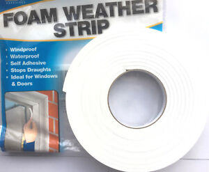 Draught Excluder Self-adhesive Tape Seal Door Window Foam Insulation Strip Cover
