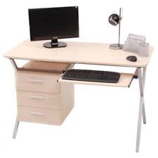 Scrivania Pc Porta Computer Folder Acero Vetro Cassettiera + Portatastiera Casa
