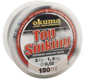 Okuma Top Sinking High Performance Monofilament Fishing Line 150m B/s 3lb -1.4kg