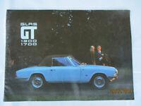 Glas 1300 / 1700 GT Coupe Cabriolet Prospekt Brochure Großformat 12 S. Deutsch