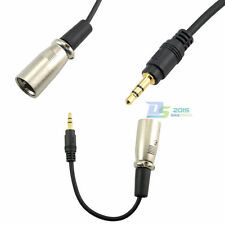"""6cm 2'' XLR 3pin Male to 3.5mm 1/8"""" Male Plug Stereo Audio Mic Microphone Cable"""