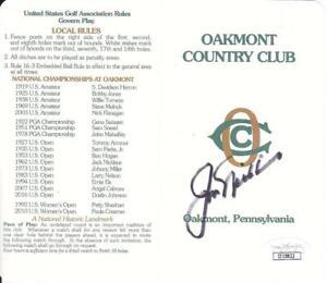 JACK NICKLAUS  Signed Oakmont Country Club Score Card  RARE JSA II15822