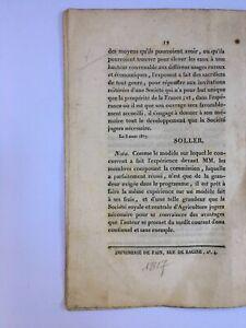 Jean-Baptiste Soller - Mémoire sur une machine aéro hydraulique - 1817