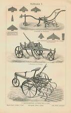 Cultivadora arado escarificadores Acker agricultura Egge marco de acero original 1902 bbb