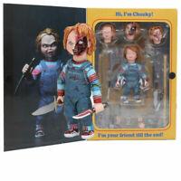 NECA Scary Chucky Figure Toys Horror Movies Child''s Play Doll Kids Xmas Gift YJ