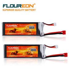 2*FLOUREON Lipo Batteria 3S 11.1V 5500mAh 35C Deans Plug per RC Elicottero AUTO