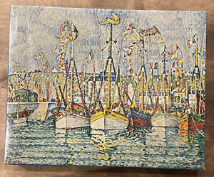 THE BLESSING OF THE FISHING FLEET by Paul Signac 1970 Springbok Jigsaw Puzzle A4