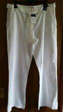 BNWT Ladies M & Co White Cotton Trousers. Size 18