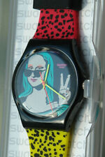 Beautiful Limited Special Swatch Mona Lisa Fan GZ 280 NEW in BOX