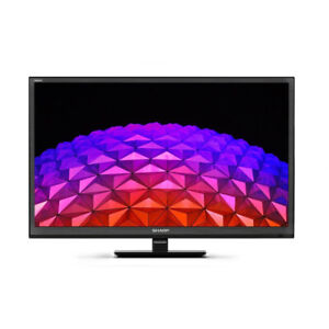 """Sharp Aquos Black 24"""" inch HD Smart LED TV with Dolby, Freeview Play and Wi-Fi"""