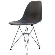 Gris oscuro silla lateral de plástico estilo Eiffel Retro - 6 opciones de pierna/entrega UK LIBRE