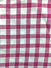 BY METRE Fair Trade 100% Organic Cotton Fabric, Red/White Check, 145cm wide