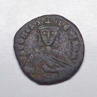 "(886-912 CE) Byzantine Empire - Leo VI ""The Wise"" AE Follis."