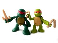 Ninjas In Training Raph & Mikey TMNT Ninja Turtles Figures Lot 2013 Nickelodeon