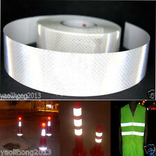 "2""X10' 3M Silver White Reflective Safety Warning Conspicuity Tape Film Sticker"