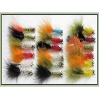 Humongous Trout Flies, 18 Pack, size 10 hook, Mixed Colours, Fishing Flies, Lure