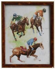 Joueurs de Polo études d'Henri Fanjul aquarelle