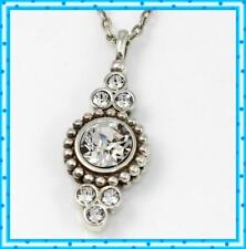 Brighton Twinkle Fancy Silver Crystal Pendant Necklace