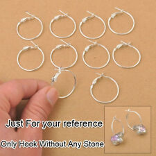 Basketball Waves Beads Circle Hoops Earrings 20MM Making Jewelry Findings 200X