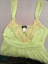 Cosabella Lime Chemise with lace SIze M-M. Brand New