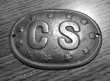 1862 11 Star CONFEDERATE STATES OF AMERICA (C.S.A.) Civil War Breast - Box Plate