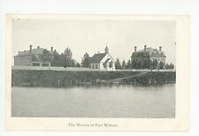 Mission at Fort William—Antique ONTARIO Thunder Bay—Church PC 1910s