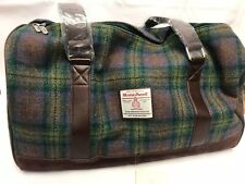 Harris Tweed Clyde Weekend Bag in Skye Tartan Tweed
