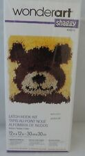 "Teddy Bear Latch Hook Rug Kit Wonderart  Spinrite Wall Hanging 12""X12"""