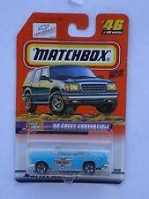 1999 Matchbox Drop Tops '55 Chevy Convertible NIB Mattel NIP #46 of 100 Vehicles