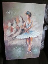oil on canvas painting of abstract ballerina