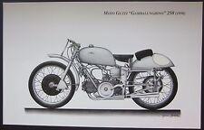 """Poster MOTO GUZZI """"Gambalunghino"""" 250 (1950) Bruno Ruffo Gianni Bertolini"""