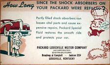 1930s Advertising Postcard: Packard Car - Louisville, Kentucky KY