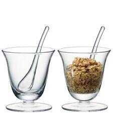 LSA Serve Condiment Pot & Scoop - Clear - Set of 2