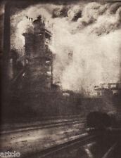 """Héliogravure - 1926 - """" On travaille """"  par J.W. Frowein"""