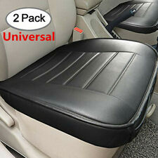 Black Car Front Seats Cover PU Leather Single Seat Breathable  Protector Cushion
