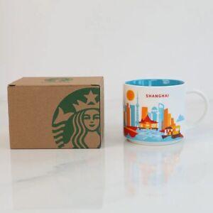 "Starbucks China Mug""You Are Here Collection""414ml SHANGHAI City Cup Sakura_Nice"