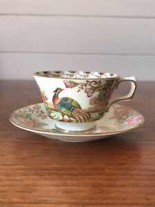 Vintage Sutherland China Exotic Demitasse Coffee Cup And Saucer AF Hairline