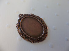 18X13mm Antiqued Copper Setting - Vintage Inspired Swag Design Cameo Frame Qty 2