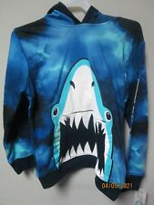 Garanimals Youth Boys 1-Piece Navy Shark Tie Dye Pull-Over Hoodie Size 8
