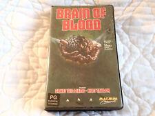 BRAIN OF BLOOD VHS MAGNUM CLAMSHELL AL ADAMSON 70'S HORROR TRANSPLANT DWARF