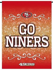 San Francisco 49ers Rico Premium 2-sided GARDEN Flag Outdoor Banner Football