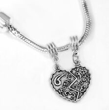 Mother daughter necklace Mother Daughter European necklace best jewelry gift