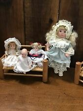 Small Bisque Dolls Lot Of 4 Jointed Dolls