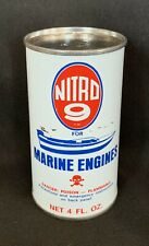 Vintage Nitro 9 Marine Engines Fuel Additive Oil Can Advertising Tin